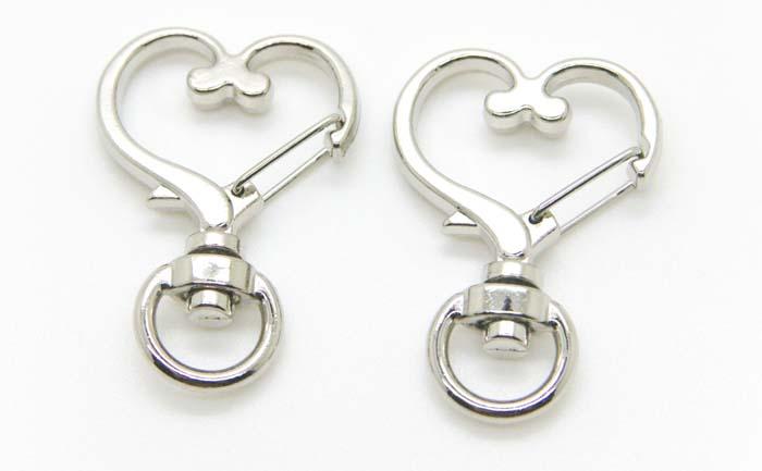 10 pcs DIY Metal Snap Hook Lobster Clasp Lanyard Pendant Key Ring Keychain